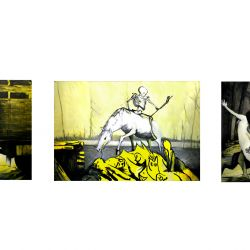 Triptych, 3 x 200 x 300 cm, oil on canvas, 2011
